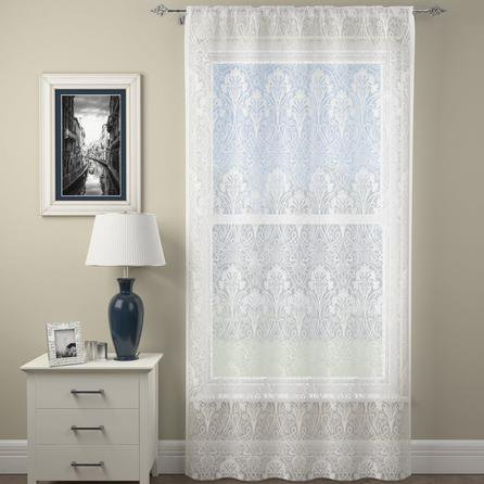 image-Lucetta Lace White Slot Top Voile Panel White