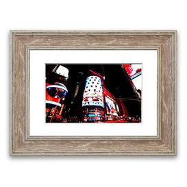 image-'Tokyo Night Lights' Framed Photograph East Urban Home Size: 93 cm H x 70 cm W, Frame Options: Walnut