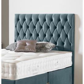 image-Norsworthy Upholstered Headboard Ebern Designs Size: King (5'), Upholstery: Plush Velvet Sky