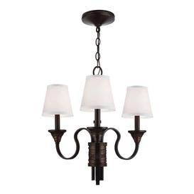 image-FE/ARBOR CREEK3 Arbor Creek 3 Light Bronze and Brass Chandelier