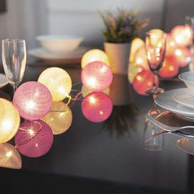 image-10 LED Glo-Globes String Lights Pink and White 8cm diameter