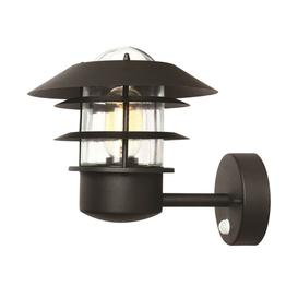 image-Elstead HELSINGORPIRBK Helsingor 1 Light Outdoor PIR Wall Lantern In Black