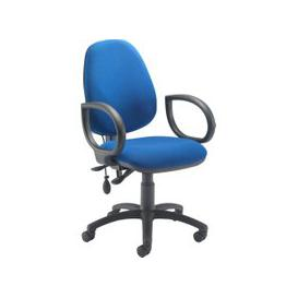 image-Orchid Lumbar Pump Ergonomic Operator Chair With Fixed Arms, Blue