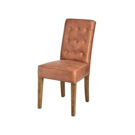 image-Hill Tan Faux Leather Dining Chair