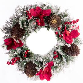 image-Frosted Christmas Wreath - Pukkr