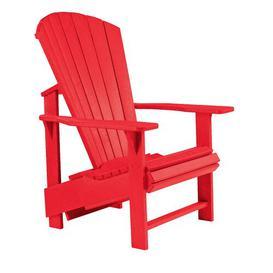 image-Lomba Upright Lounge Chair Dakota Fields Frame Finish: Red