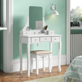 image-Arkin Dressing Table Set with Mirror Three Posts