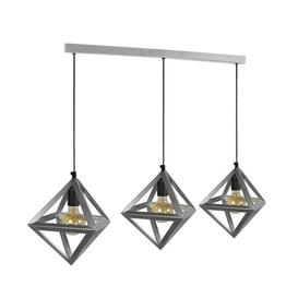 image-Sandown 3-Light Kitchen Island Pendant Mercury Row Finish: Silver