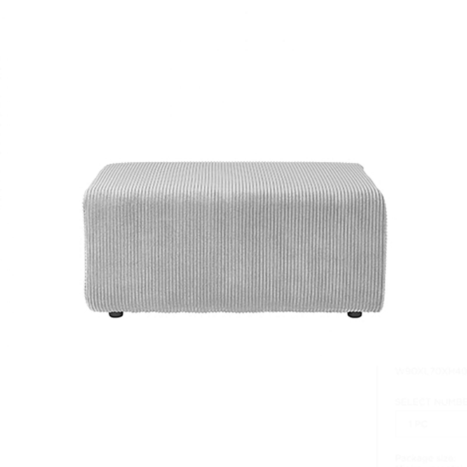 image-COLINROY SECTIONAL POUF, Stone