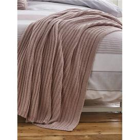 image-Chunky Knit Throw Catherine Lansfield Colour: Blush