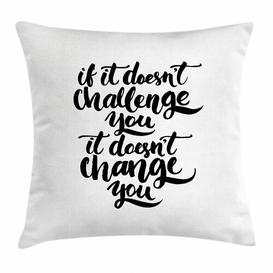 image-Malaika Motivational Encouraging Words Outdoor Cushion Cover Ebern Designs Size: 45cm H x 45cm W