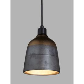 image-John Lewis & Partners Delaney Metallic Glaze Ceramic Easy-to-Fit Ceiling Shade, Bronze