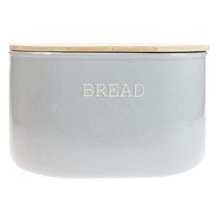 image-Embossed Grey Bread Bin Grey and Brown