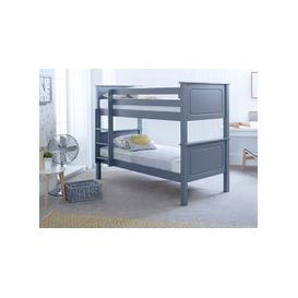 "image-Bedmaster Ashley Grey Bunk Bed - Single (3' x 6'3\"")"