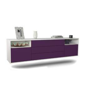 """image-Graf TV Stand for TVs up to 78"""" Ebern Designs Colour: White/Purple"""