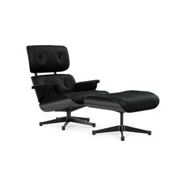 image-Vitra Eames Lounge Chair & Ottoman Classic Dims Black Ash Black Coated