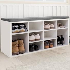 image-Wooden Shoe Storage Bench