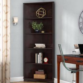 image-Exeter Corner Bookcase Ebern Designs Colour: Espresso