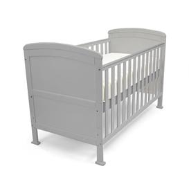image-Lundy Cot Bed with Mattress Isabelle & Max Colour: Grey, Mattress Type: Modal Pocket Sprung