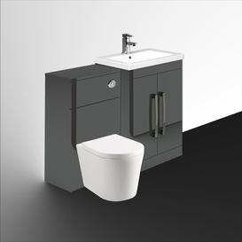 image-Aparicio 600mm Combined Vanity Unit Mercury Row Furniture Finish: Anthracite