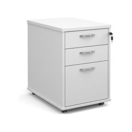 image-Tully Tall Mobile Pedestal, White, Free Standard Delivery