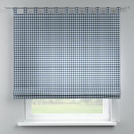 image-Quadro Blackout Roman Blind Dekoria Size: 160cm W x 170cm L, Finish: Navy Blue/Ecru