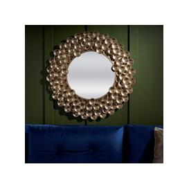 image-Serene Rajut Gold Sunburst Mirror - 80cm x 80cm