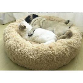 image-Jaiden Bolster Cushion Dog Bed Archie & Oscar Size: 80cm W x 80cm D, Colour: Tan