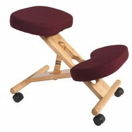 image-Kneeling Chair Zipcode Design Colour: Burgundy