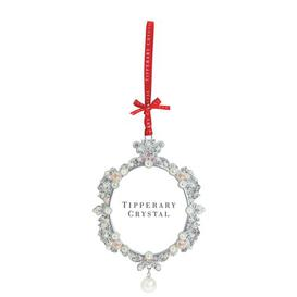 image-Tipperary Crystal Pearl Frame Christmas Holiday Shaped Ornament Tipperary Crystal