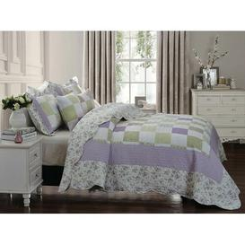 image-Margr Bedspread Set with Pillow Sham Lily Manor Size: W180 x L240cm