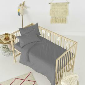 image-Rockford Fitted Cot Sheet Symple Stuff Colour: Grey