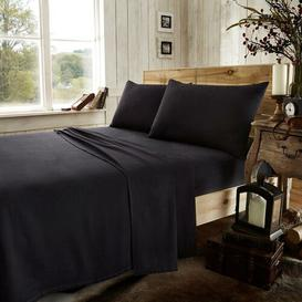 image-Elton Ultra Soft 100% Cotton Fitted Sheet Brayden Studio Colour: Black, Size: Single (3')
