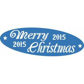 image-Merry Christmas, 2015 Wall Sticker East Urban Home Colour: Light blue, Size: 57 cm H x 166 cm W