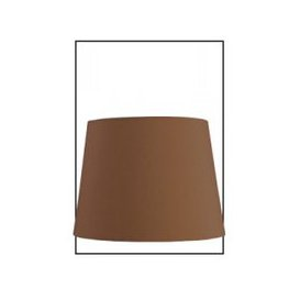 image-Chocolate Faux Silk 10 Inch Drum Shade