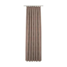 image-Devos Pencil Pleat Blackout Single Curtain Union Rustic Curtain colour: Brown/Grey, Size: 145cm H x 132cm W