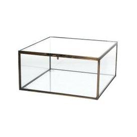 image-Arla Aged Brass and Glass Jewellery Box