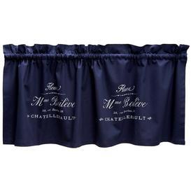 image-70cm Curtain Pelmet Brayden Studio Size: 46 cm W x 70 cm L, Colour: Navy Blue