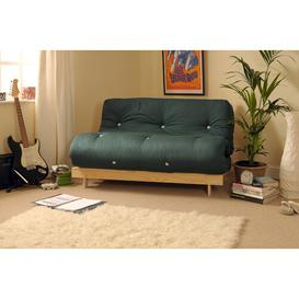 image-Kaitlynn 2 Seater Futon Sofa Zipcode Design Upholstery Colour: Green, Size: Double (4'6)