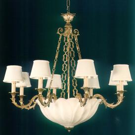 image-Cutts 11-Light Shaded Chandelier Astoria Grand Finish: Antique Silver, Size: 88 H x 88cm W x 82cm W