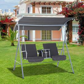 image-Weside Swing Seat with Stand Freeport Park Colour: Grey