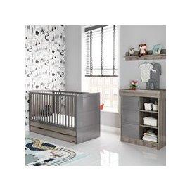 image-Obaby Madrid Cot Bed 2 Piece Nursery Set in Eclipse
