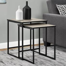 image-Stewart Wooden Set Of 2 Nesting Tables In Sonoma Oak