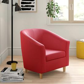 image-Amira Tub Chair Zipcode Design Upholstery: Red
