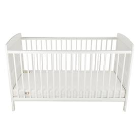 image-Juliet Cot Bed with Foam Mattress CuddleCo Colour: White
