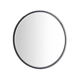 image-Newport Round Mirror in Deep Black, Large