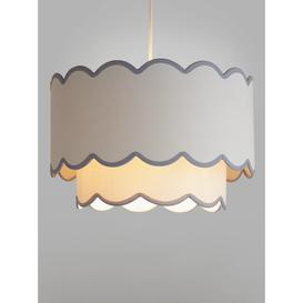 image-John Lewis & Partners Scallop Easy-to-Fit Dual-Layer Ceiling Shade, Natural