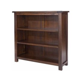 image-Biston Low Bookcase In Dark Tinted Lacquer Finish
