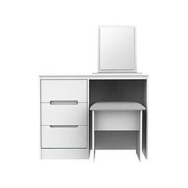 image-Swift Toronto Ready Assembled Dressing Table, Mirror And Stool Set