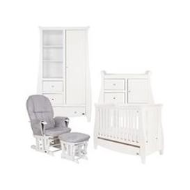 image-Tutti Bambini Lucas Cot Bed 5 Piece Nursery Set in White